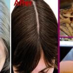 Od sijede do crne kose trajno: za 7 dana sa samo jednom namirnicom! (VIDEO)